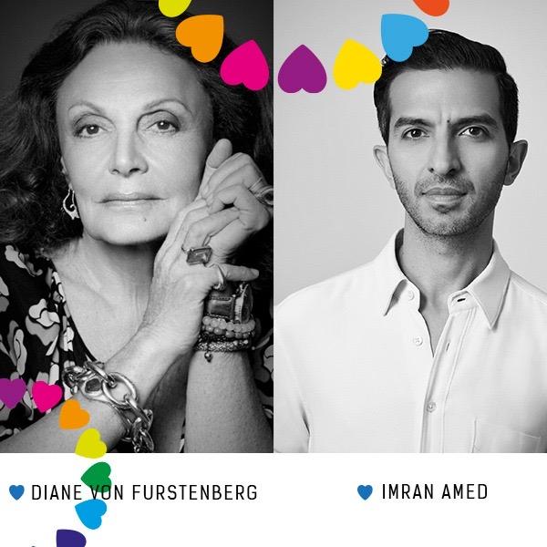 Diane Von Furstenberg and imran amed